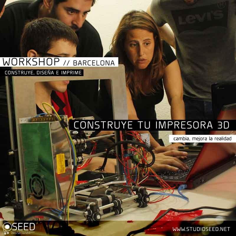 Construye tu impresora 3D Reprap PRUSA  // Workshop Barcelona 3D printing // Studio SEED