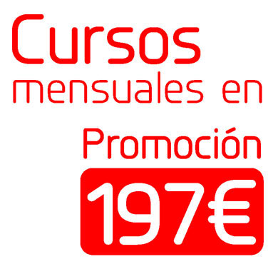 Cursos mensuales en promoción