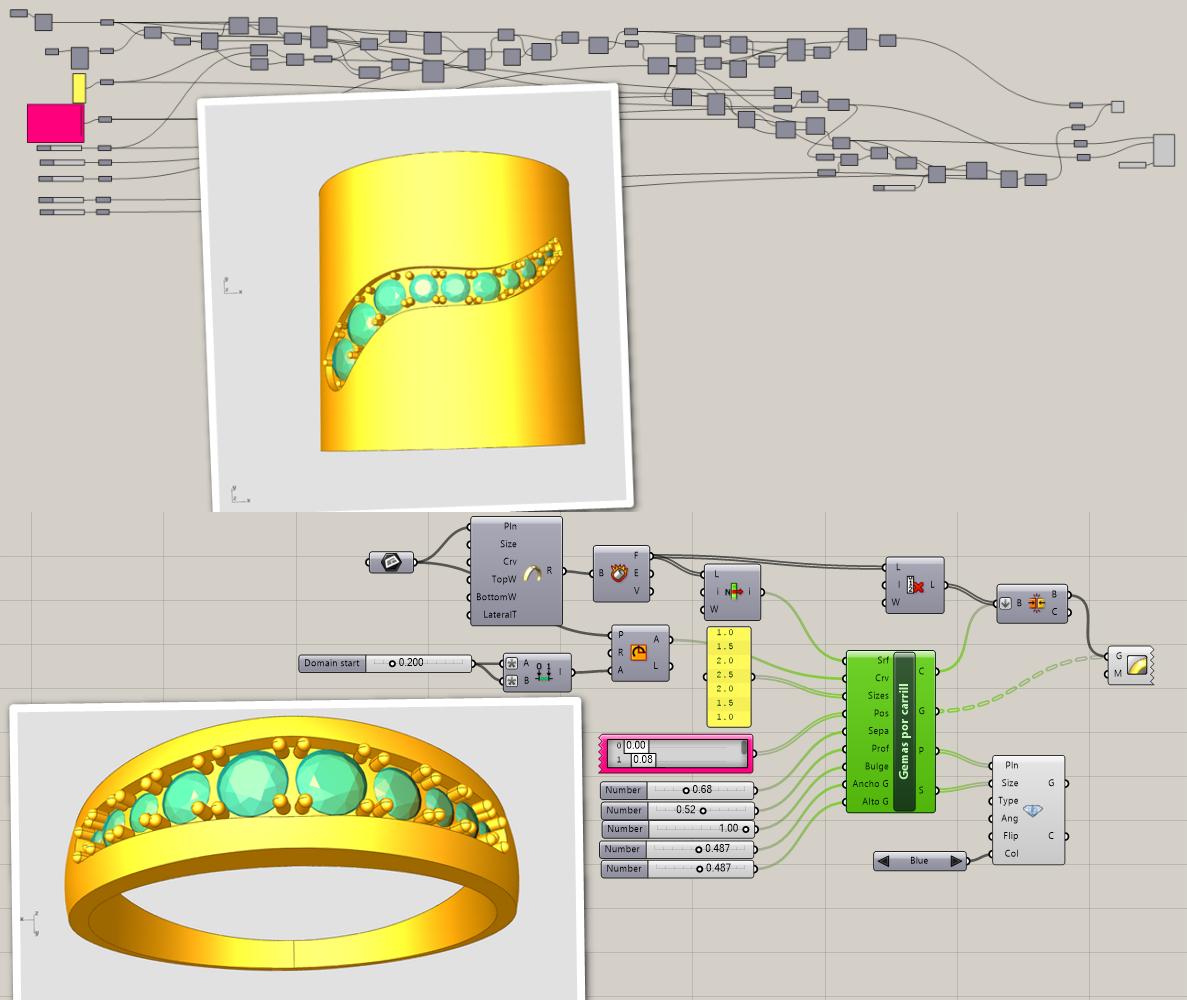 Workshop Joyeria generativa con el plugin de grasshopper Peacock, para diseñadores que quieren realizar joyería innovadora.