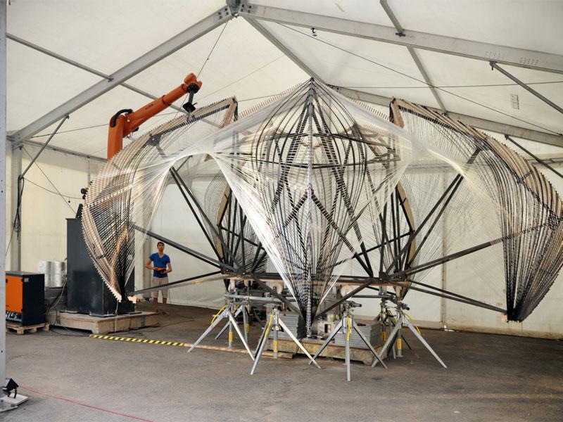 roboticfilamentwinding. KUKA, BUILDING ROBOTIC, rhinoceros robotic, fabricación digital