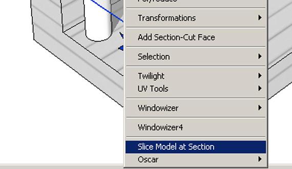 Slide model at section