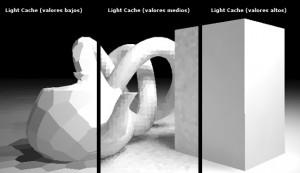 light cache diferentes valores