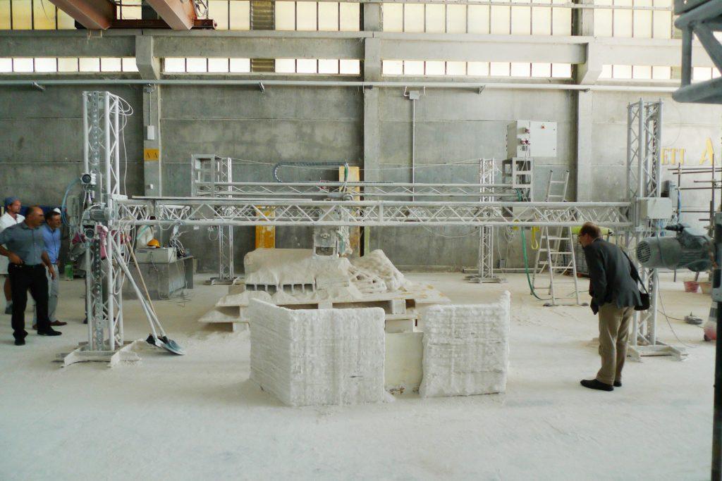 Diseño de Enrico Dini, fabricación digital en arquitectura. RobArch Diseño paramétrico con grasshopper