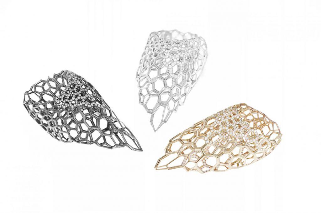 Joyería parametrica, joyeria generativa, zaha hadid jewelry, joyería personalizada, fractal jewerly