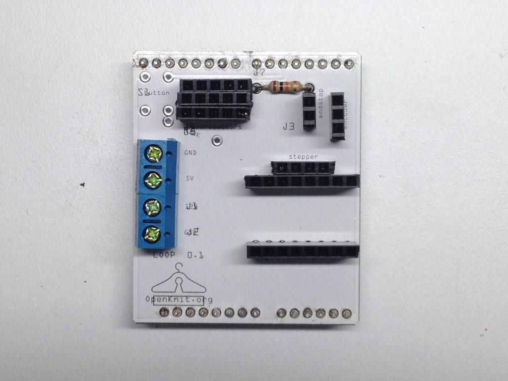 """Shield arduino openknit """"impresora 3D de ropa"""""""