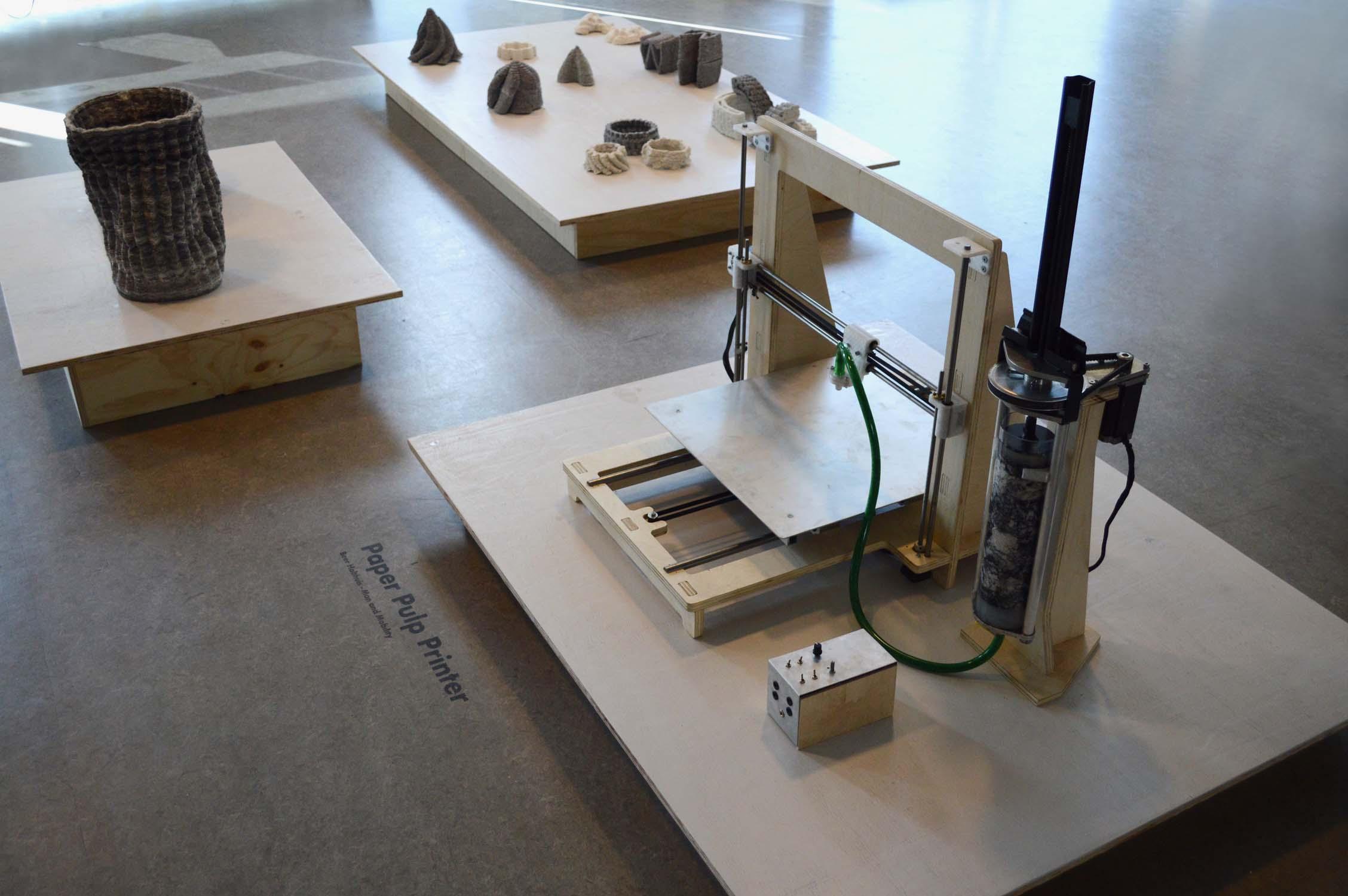3D printing barcelona and mexico, Beer Holthius, Paper Pulp Printer, paper reciclado, reciclaje, Curso impresión 3D